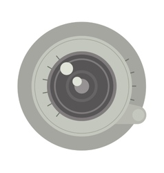 Photo optic lenses vector