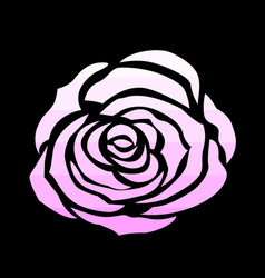 pink rose icon vector image