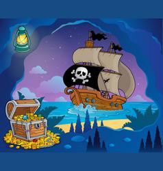 Pirate cove theme image 7 vector
