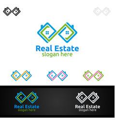 Real estate infinity logo design vector