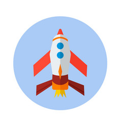 Rocket flat icon rocket icon h vector