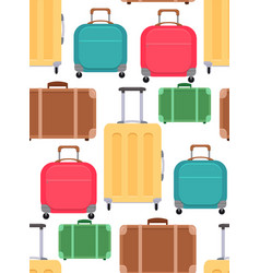 seamless texture with various suitcases on a vector image