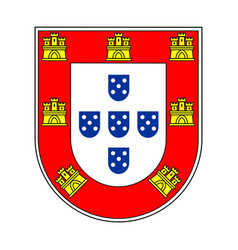 small coat arms portugal vector image