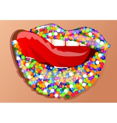 Sprinkles on the lips vector
