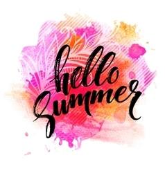 Summer Watercolor Design Summer Typography vector image