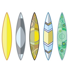 Surfing Boards Set2 vector