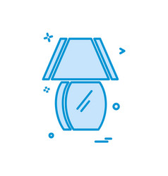 table lamp icon design vector image