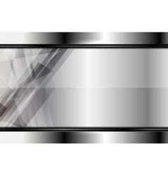 Template silver background vector