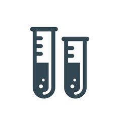 Test tube icon vector