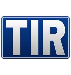TIR - Transport international routier vector