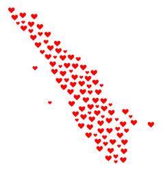 Valentine collage map of sumatra island vector