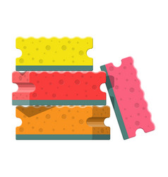 Washing sponge kitchenware scouring pads vector