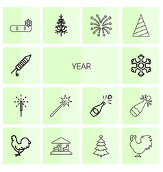 year icons vector image