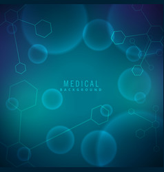 background for science and medical vector image