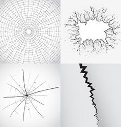broken glass vector image vector image