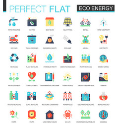eco energy complex flat icon concept web vector image vector image