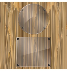 glass on a wood vector image vector image