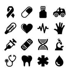 Medical and Health Icons Set vector image