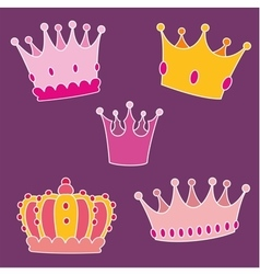 Pastel crown set vector image vector image