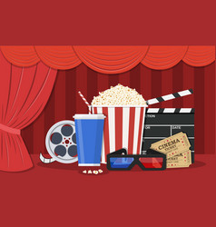 retro movie set vector image vector image