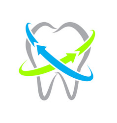 simple tooth line protection icon on isolated vector image