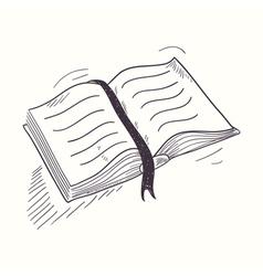 Sketched open book desktop icon vector image vector image