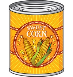 Sweet Corn Can vector image vector image