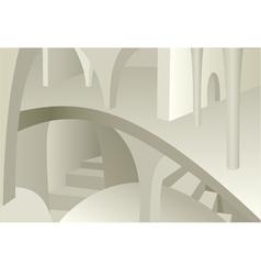 architecture design of medieval interior vector image