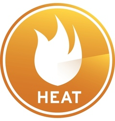 Heat graphic image vector