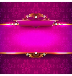 Luxury background with diamonds and ornaments vector image vector image