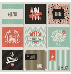 Retro-styled restaurant menu designs vector image