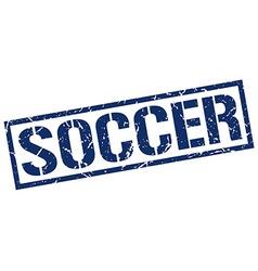 soccer stamp vector image