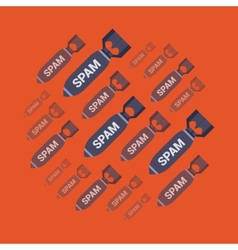 Spam bombs vector image vector image