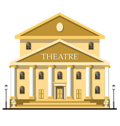 theatre building isolated on white background vector image