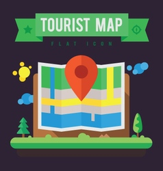 Tourist map vector image vector image