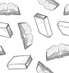 doodle books pattern seamless vector image vector image