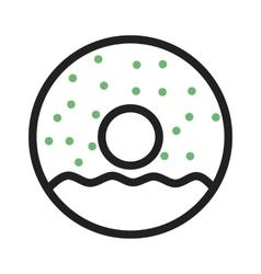 Doughnut sprinkled vector