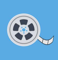 film reel flat icon vector image