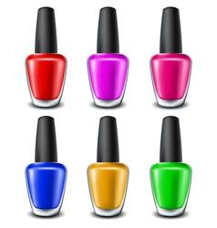 Nail polish set vector image vector image
