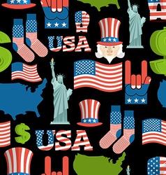 America symbols patriotic pattern USA national vector image vector image