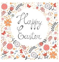 Elegant floral Easter card vector image vector image