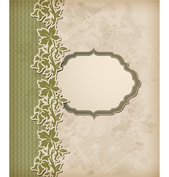 green vintage background vector image vector image
