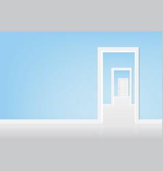 Open the door to the light vector