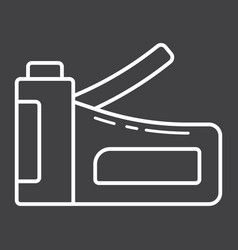 staple gun line icon build and repair stapler vector image vector image