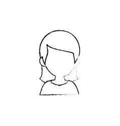 woman cartoon profile vector image vector image