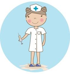young nurse vector image
