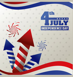 4th july independence day card event happy vector image
