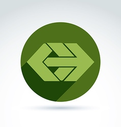 Abstract element with green arrow pointer vector