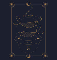 astrological zodiac sign constellation and symbol vector image