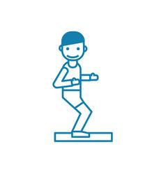 athletics linear icon concept athletics line vector image